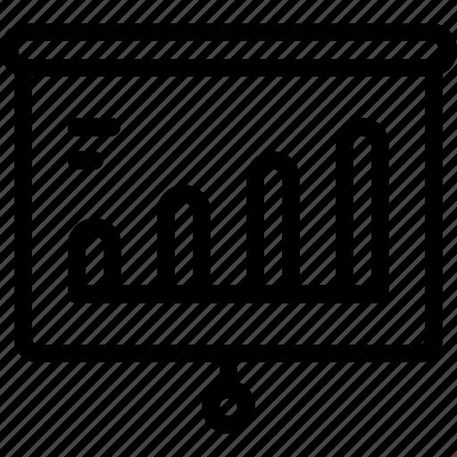 bar, board, chart, presentation icon