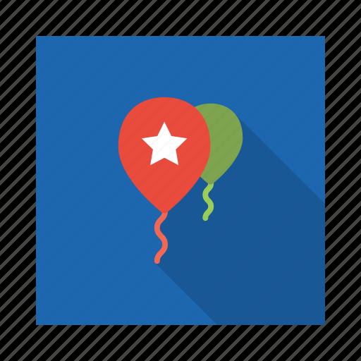 balloon, birthday, celebration, decoration, ornament, party icon