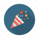 birthday, celebration, confetti, decoration, festival, party icon