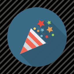 birthday, celebration, confetti, decoration, festival, party icon