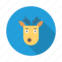 christmas, deer, snow, winner, winter, xmas icon