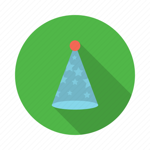 birthday, celebration, christmas, party, party hat, xmas icon