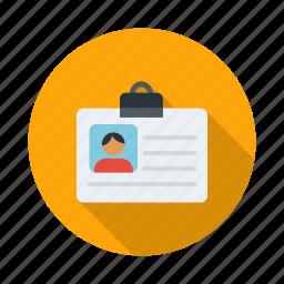 card, employee, id, id card, identification, identity icon
