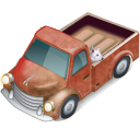 dog, truck, with icon