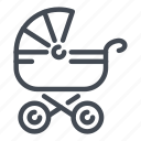 baby, buggy, cane, carriage, cradle, newborn, stroller icon