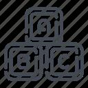 blocks, bricks, constructor, play, toy icon