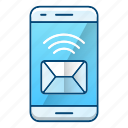 mail, message, news, smartphone icon