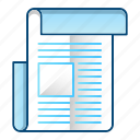 blog, feed, news, paper icon