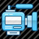 media, news, videocam, videocamera icon