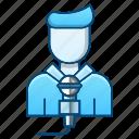 avatar, journalism, journalist, microphone, news icon