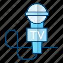 journalist, microphone, news, tool, tv icon