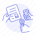 1, conference, document, interview, making, microphone, news, press, question, recording, smartphone icon