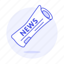 editorial, news, newspaper, newsprint, paper, press, roll, subscription icon