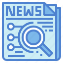 analysis, business, newspaper, strategy icon