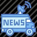 automobile, broadcast, car, reporter icon