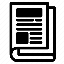 article, blog, journal, news, newspaper, pages, paper icon