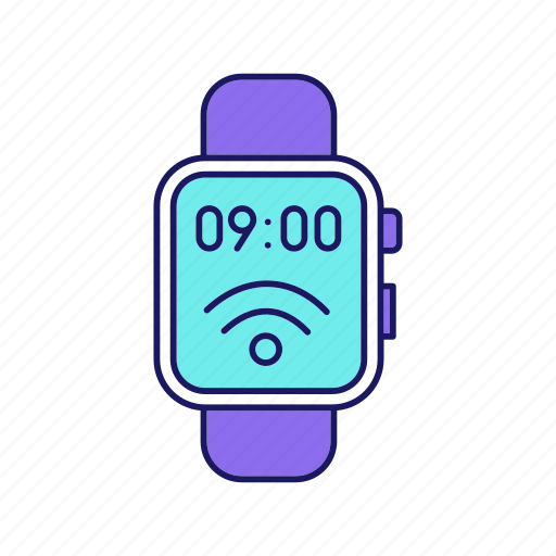 contactless, nfc, smart, smartwatch, technology, watch, wristwatch icon