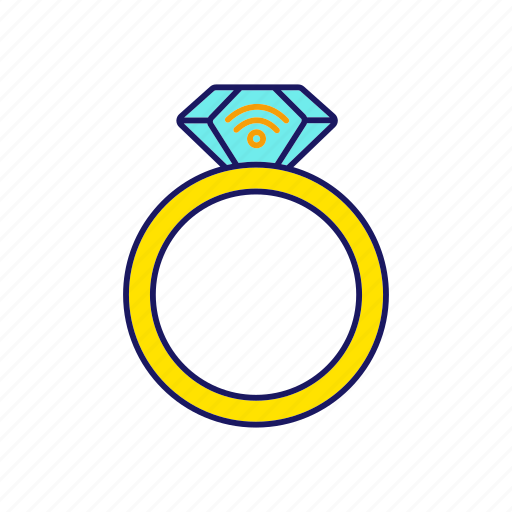 contactless, jewel, jewelry, nfc, rfid, ring, technology icon