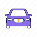 automobile, autonomous, driverless, nfc, self-driving, smart car, vehicle icon