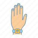 contactless, nfc, smart, smartwatch, technology, watch, wristwatch icon