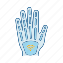 chip, contactless, hand, implant, microchip, nfc, technology icon