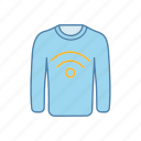 clothes, clothing, contactless, jumper, nfc, sweater, technology icon