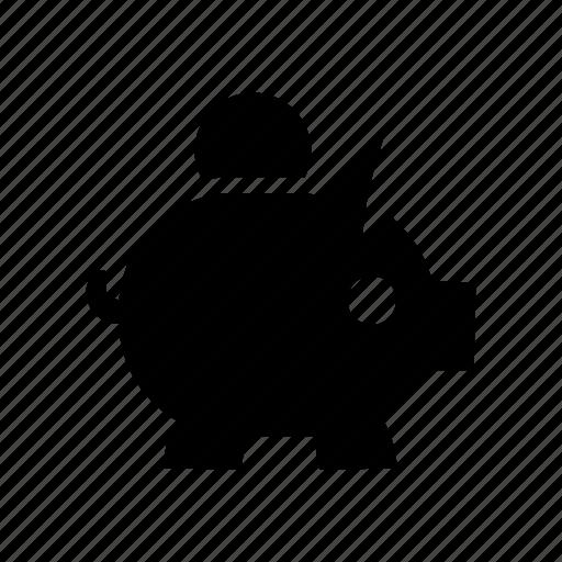 coin, money, piggybank, savings icon