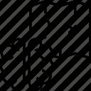 brain, entertainment, map, passage, quest icon