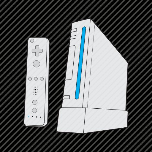 console, controller, gamepad, nintendo, nintendo wii, retro, wii icon