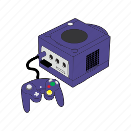 console, controller, gamepad, gaming, nintendo, nintendo gamecube, retro icon