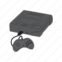 console, controller, gamepad, retro, saturn, sega icon