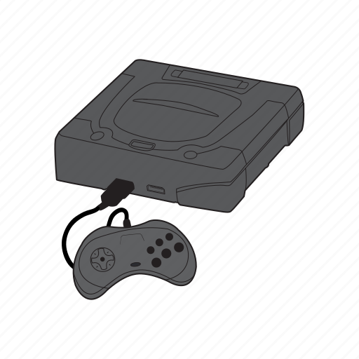 console, controller, gamepad, retro, saturn, sega icon