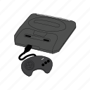 console, controller, gamepad, gaming, genesis, retro, sega icon