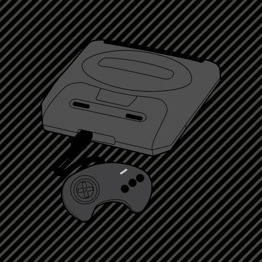 console, controller, gamepad, gaming, genesis, retro, sega icon