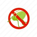 blog, disease, grasshopper, insect, isometric, pest, warning icon
