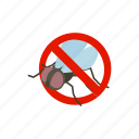 blog, disease, fly, insect, isometric, pest, warning icon