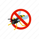 blog, disease, insect, isometric, pest, warning, wasp icon