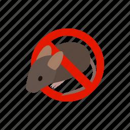 ban, blog, isometric, mouse, poison, rat, warning icon