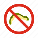 animal, caterpillar, control, disease, pest, prohibition, warning icon