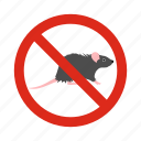 animal, ban, mouse, pest, poison, prohibition, rat icon