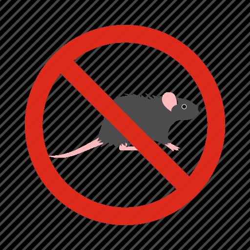 animal, ban, mouse, pest, poison, prohibition, rat icon