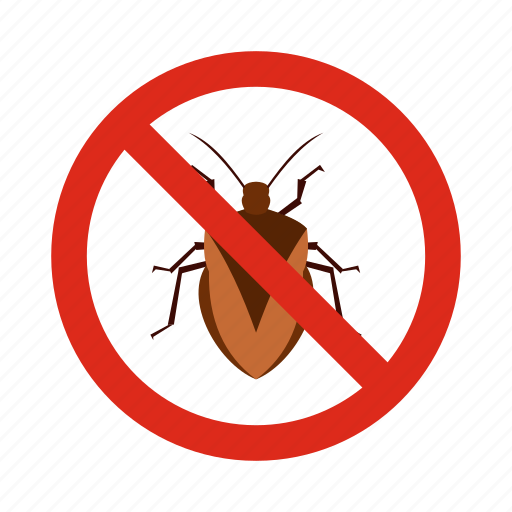 animal, chinch, control, disease, pest, prohibition, warning icon