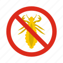 animal, control, disease, insects, pest, prohibition, warning icon