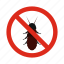 animal, coleoptera, control, disease, pest, prohibition, warning icon