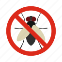animal, control, disease, glies, pest, prohibition, warning icon