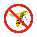 animal, control, disease, pest, prohibition, warning, wasps icon