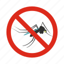 animal, control, disease, mosquitoes, pest, prohibition, warning icon