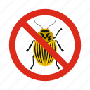 animal, beetles, colorado, control, disease, pest, prohibition icon