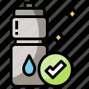 bottle, plastic, reusable, use icon
