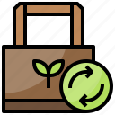 bag, paper, recycle, reusable icon